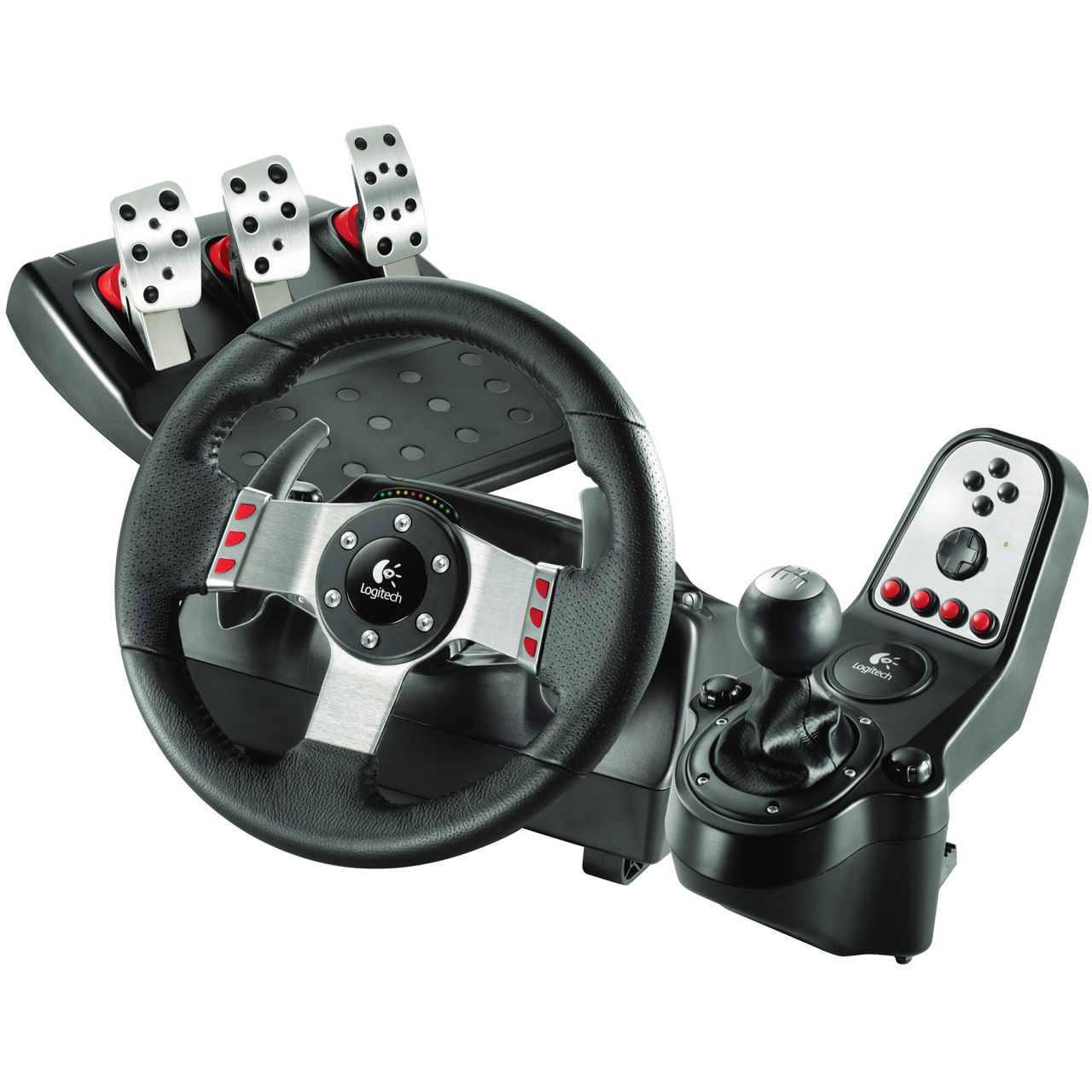 logitech lenkrad g27 racing wheel usb pc ps3 ps2 ebay. Black Bedroom Furniture Sets. Home Design Ideas