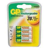 GP Batteries Akkus AAA / Micro Nickel-Metall-Hydrid 970 mAh 4er Pack