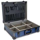 InLine Werkzeugkoffer, ABS/Aluminium blau/schwarz, unbestückt, , abschließbar