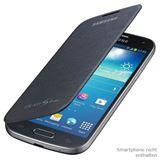 Samsung EF-FI919BB Kunstleder/Velour Flip-Cover für Samsung Galaxy S4 Mini schwarz