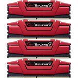 32GB G.Skill RipJaws V rot DDR4-3000 DIMM CL15 Quad Kit