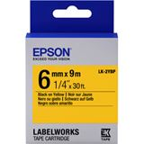 Epson Band pastell schw./gelb 6mm