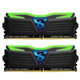 16GB GeIL EVO Super Luce grüne LED schwarz DDR4-2400 DIMM Dual