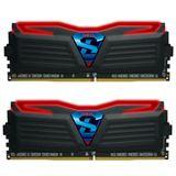 16GB GeIL EVO Super Luce rote LED schwarz DDR4-2400 DIMM Dual Kit
