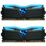 16GB GeIL Ryzen Super Luce blaue LED schwarz DDR4-2400 DIMM Dual Kit
