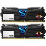 16GB GeIL Ryzen Super Luce weiße LED schwarz DDR4-2400 DIMM
