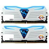16GB GeIL Ryzen Super Luce blaue LED weiß DDR4-2400 DIMM Dual