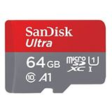 64 GB SanDisk Ultra Android microSDXC Class 10 UHS-I A1 Retail inkl.