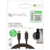 4smarts USB-C auf Lightning Schnell-Ladekabel grau