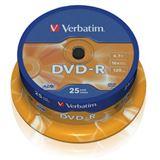 Verbatim DVD-R 4.7 GB 25er Spindel (43522)