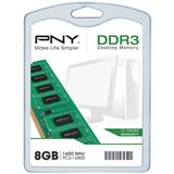 8GB PNY DIM108GBN/12800/3-SB DDR3-1600 DIMM CL11 Single