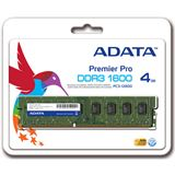 4GB ADATA Value (Bulk) DDR3-1600 DIMM CL11 Single