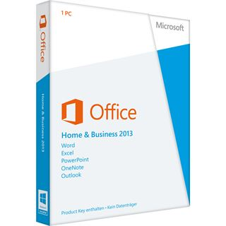 Microsoft Office 2013 Home and Business 32/64 Bit Deutsch 1 User PC